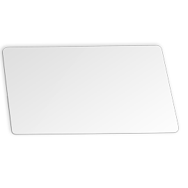 Printable white plastic card
